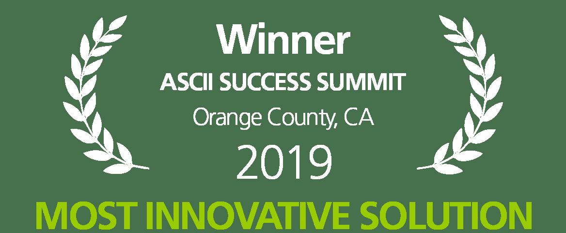 ASCII 2019 Most Innovative Solution