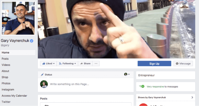 Gary Vaynerchuk has built his massive following on Social Media by documenting his journey with authenticity.