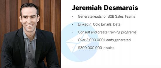 Jeremiah Desmarais photo and business profile