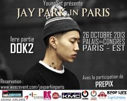 Affiche de concert d'un artiste américano-coréen. Diffuser dans tout Paris.