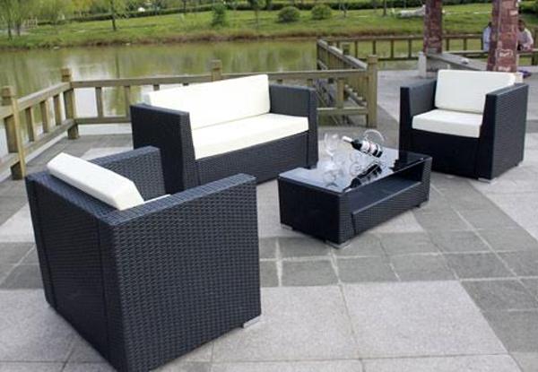4 Piece Outdoor Furniture Set • GrabOne NZ