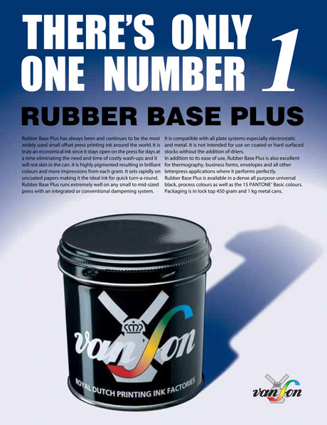 Van Son Rubber Based ink
