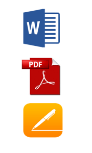 icons of commonly used software