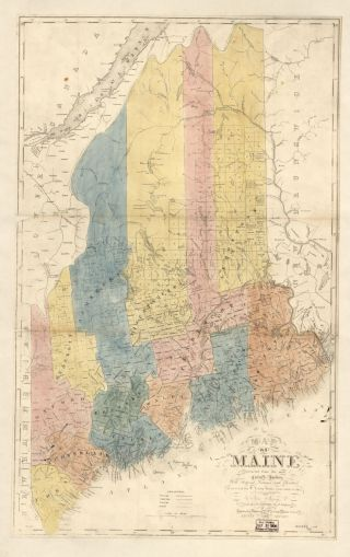 Map Cabinet   Maine  An Encyclopedia Maine Counties 1840