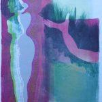 "Laura Dunn, ""Release"", Gelatin Monoprint, 12"" x 9"""
