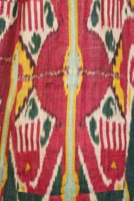 Detail, Women's Ikat Robe, Silk and Cotton, 19th Century, Uzbekistan, Bernard C Meyers Photo