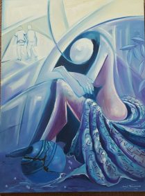 Makumbundo Francisco, After the Rape, Oil on Canvas, 30x40, 2013