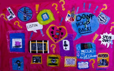King Middle School student project Freedom of Speech