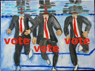 vote mayers treading water