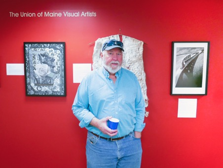 """UMVA Gallery opening of """"Our Life is One of Lights and Shadows, Chris Morse; photo by David Wade"""