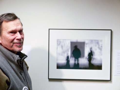 """UMVA Gallery opening of """"Our Life is One of Lights and Shadows, Dave Wade; photo by David Wade"""