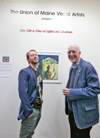 "UMVA Gallery opening of ""Our Life is One of Lights and Shadows, William Hessian and Gregg Harper; photo by David Wade"