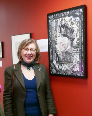 """UMVA Gallery opening of """"Our Life is One of Lights and Shadows, Christine Sullivan; photo by David Wade"""