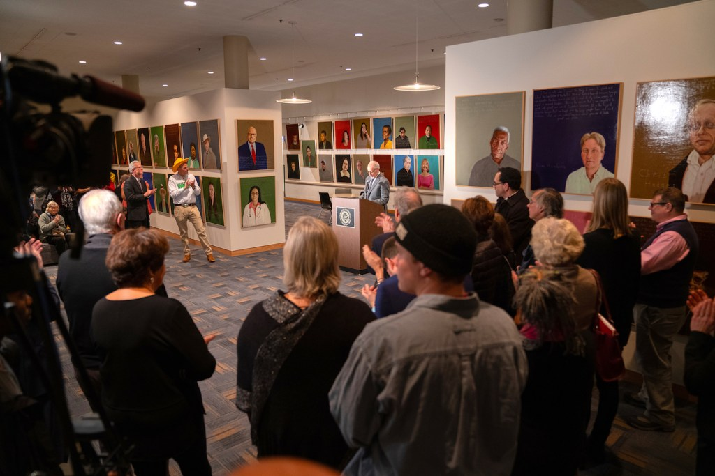 Robert Shetterly University Lecturer & Exhibition of Paintings In Schine