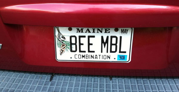 BEE MBL Licence Plate - Submitted by P.R. on  8/13/2012