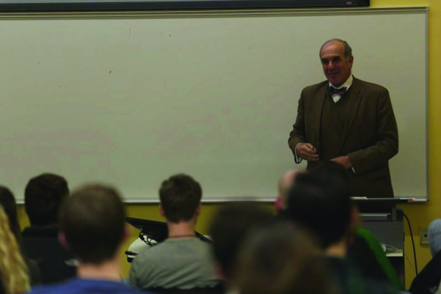 L. Sandy Maisel, the William R. Kenan Jr. Professor of Government at Colby College, presents a speech on the current status of the election process.