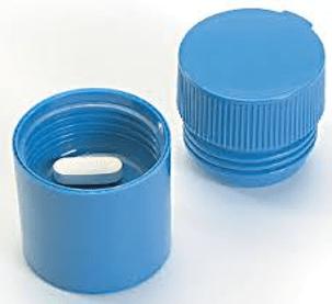 Pill crusher in blue