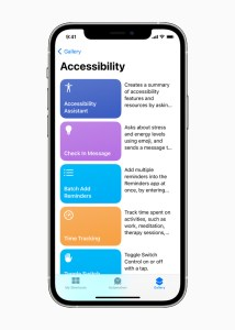 Apple accessibility features screen shot