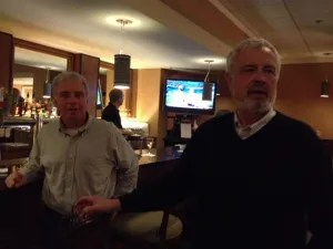 Gerry Boyle and Jim Hayman in the bar