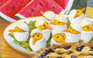 People always ask about the egg chicks. They aren't in the book or part of the recipe. They came from the cover artist. But I absolutely love them.