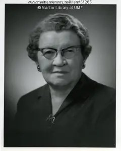 Agnes Mantor, librarian after whom Mantor Library was named