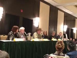 Opening panel with Sheila Connolly, Brendan DuBois, Craig Johnson, Hank Phillippi Ryan,