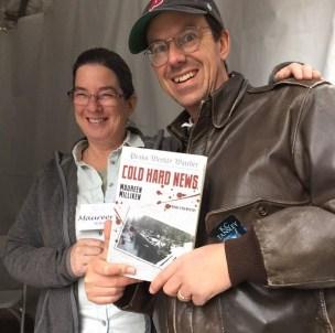 Whoa! Someone likes my book. Fellow writer John Radosta stops by to say hi at the 2015 Boston Book Festival.