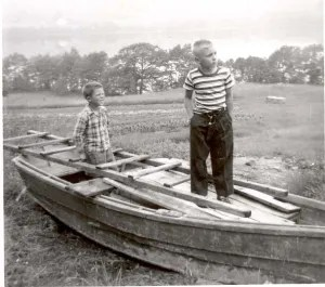 Even when the boat wasn't ready, I was thinking about fishing as a kid.