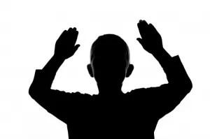boy hands up