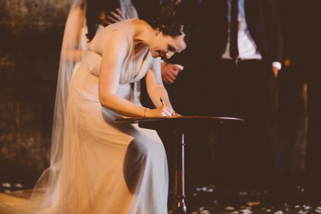 Briana witnesses the marriage contract. Photo by Abby Lorenz.