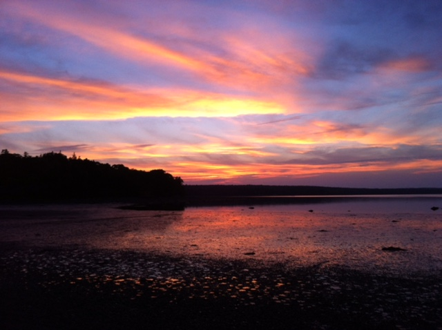 A spectacular sunset on the Blue Hill Peninsula