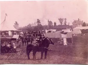 Rare photo of the Hartland Fair.
