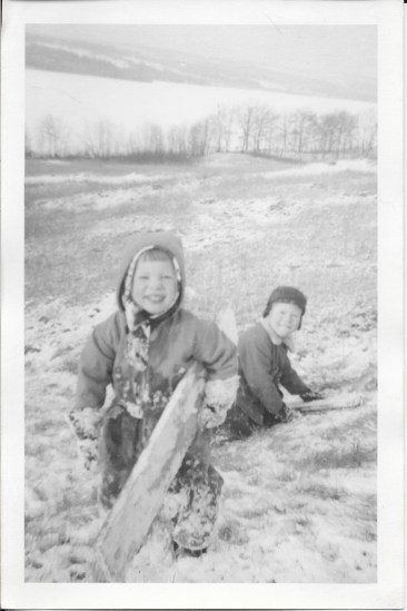 When you're a kid, you don't need much snow to go sledding. You don't even need a sled.
