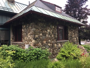 the lovely arts and crafts Rangeley library
