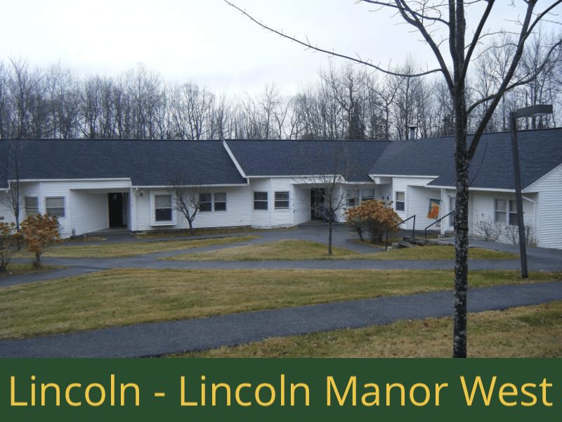 Lincoln - Lincoln Manor West: 16 units total – (14) 1 bedroom apartments and (2) 2 bedroom handicap accessible apartments