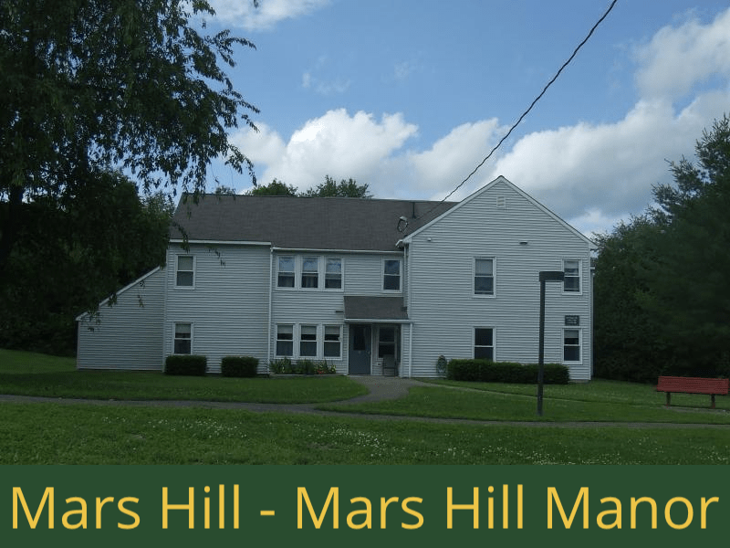 Mars Hill - Mars Hill Manor: 32 units total – (28) 1 bedroom apartments, and (1) 2 bedroom apartment, and (3) 2 bedroom semi-handicap accessible apartments