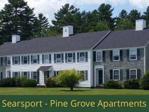 Searsport - Pine Grove Apartments: 48 units total – (22) 1 bedroom apartments, (20) 2 bedroom apartments, (2) 3 bedroom apartments, and (4) 2 bedroom apartments [townhouse style]