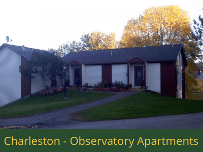 Charleston - Observatory Apartments: 16 units total – (4) efficiency apartments and (12) 1 bedroom apartments