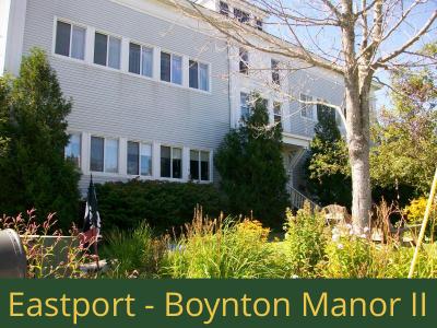 Eastport - Boynton Manor II: 22 units total – (14) 1 bedroom apartments, (2) 1 bedroom handicap accessible apartments, and (6) 2 bedroom apartments