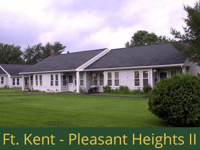 Fort Kent - Pleasant Heights II: 16 units total – (14) 1 bedroom apartments and (2) 2 bedroom handicap accessible apartments