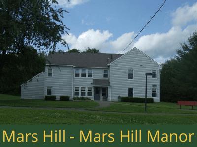 Mars Hill - Mars Hill Manor: 32 units total – (28) 1 bedroom apartments, and (1) 2 bedroom apartment, and (3) 2 bedroom semi-handicap accessible apartments