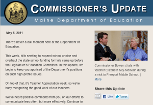 Image of May 5, 2011 Commissioner's Update email