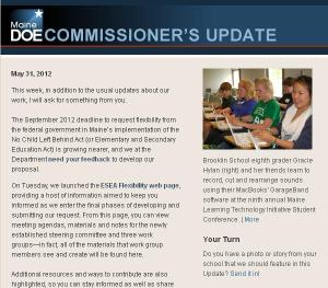 Commissioner's Update, May 31, 2012.