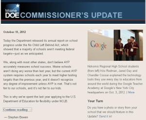 Commissioner's Update – October 11, 2012