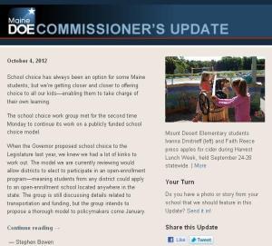 Commissioner's Update – October 4, 2012