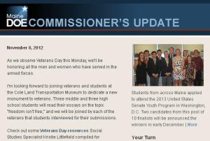 Commissioner's Update – November 8, 2012