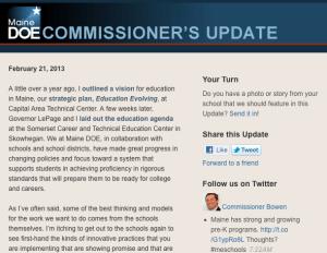 Commissioner's Update - Feb. 21, 2013