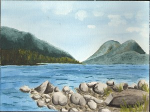 """Eagle Lake"" by Claire Ciampa, Grade 12, George Stevens Academy"