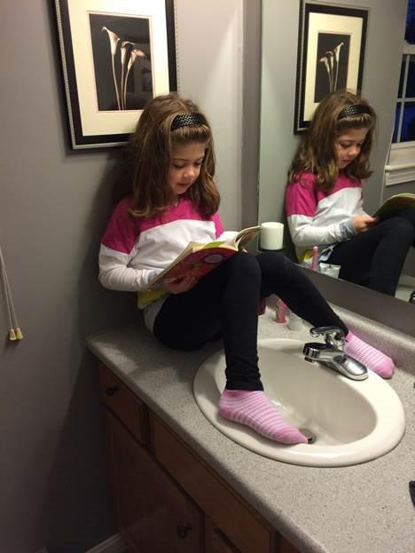 reading instead of brushing