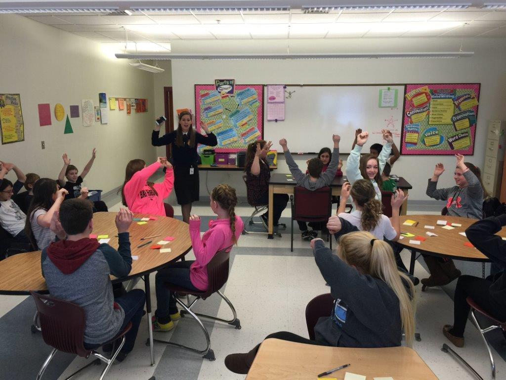 Draper engages in leadership activity with Ashland Middle School students